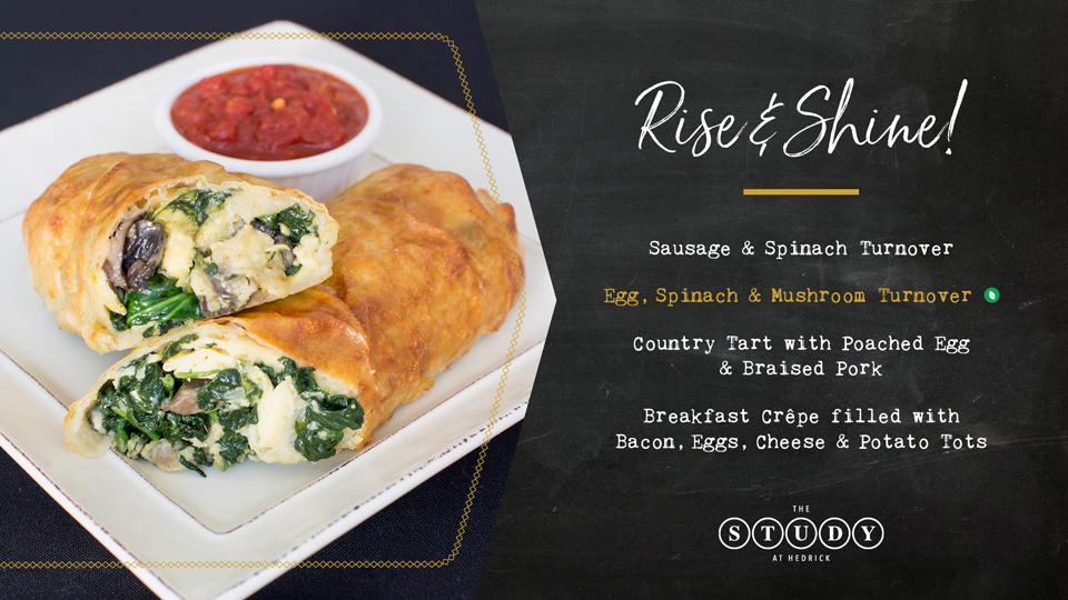The Study at Hedrick: New Egg, Spinach, &amp Mushroom Turnover