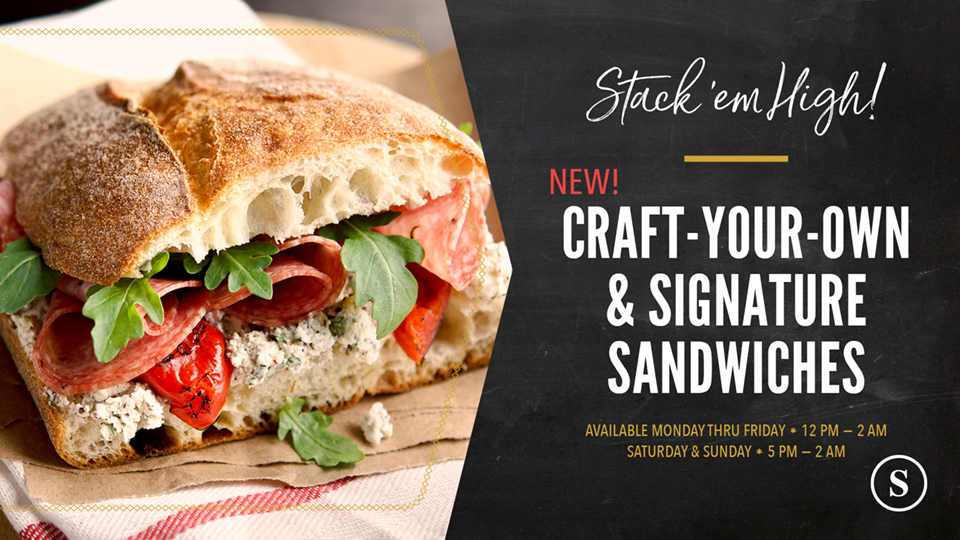 The Study at Hedrick: Craft-Your-Own & Signature Sandwiches