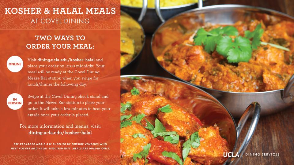 Kosher & Halal Meals at Covel Dining