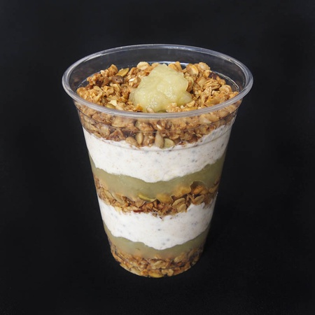 Granola, Oatmeal, & Apple Parfait